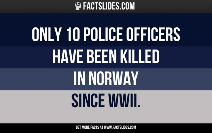 Only 10 police officers have been killed in Norway since WWII.