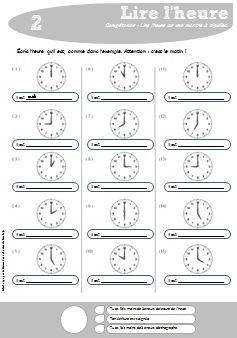 Lire l'heure (CE1) - Charivari à l'école