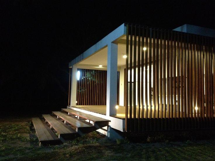 The Shelter / KG Studio + AssociatesNature Lights, Shelters, Exterior Ideas, Front Doors, Front Facades, Santa Cruz, Schools Projects, Wooden Staircas, Architecture Exterior