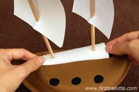 Step 9c Mayflower or Pirate Ship craft