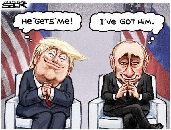 7/11/17  2:58p  Trump & Putin  I Got You Babe  Steve Sack mplsstartribune.com cagle.com