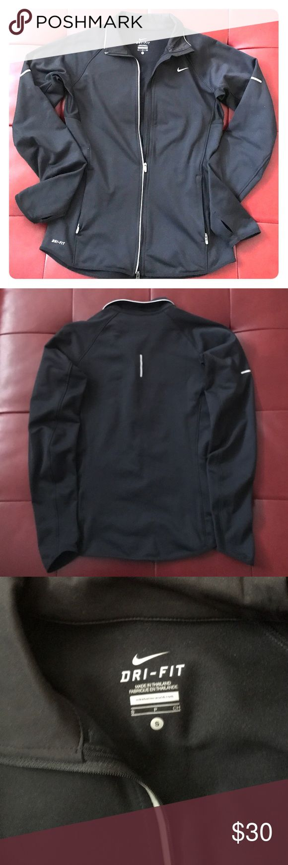 Women's Nike dri-fit jacket Women's Nike dri-fit jacket size small. Black. Only worn a couple of times. In great condition! Nike Jackets & Coats
