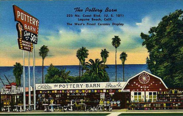 1950s The Pottery Barn Laguna Beach California Vintage