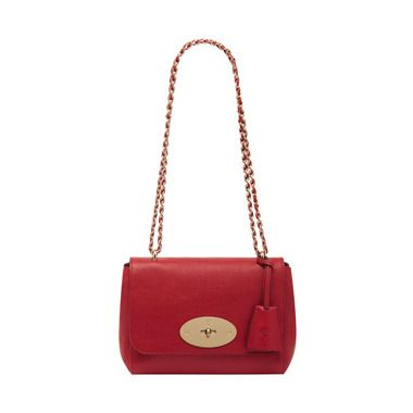 Mulberry - Lily in Poppy Red Glossy Goat