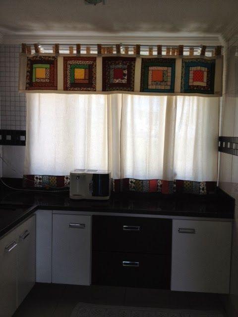 Ateliê Costurando nas Montanhas Gerais: Cortina para Cozinha com Patchwork