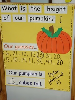 This would be a great fall activity with a prize for the winner. This could be used for science or during morning circle as a class activity. This could also be at the math center.