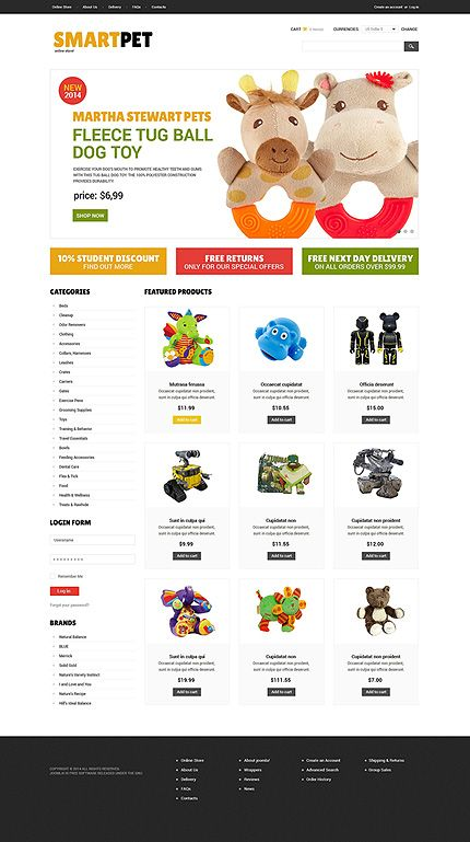 VirtueMart Theme #50536