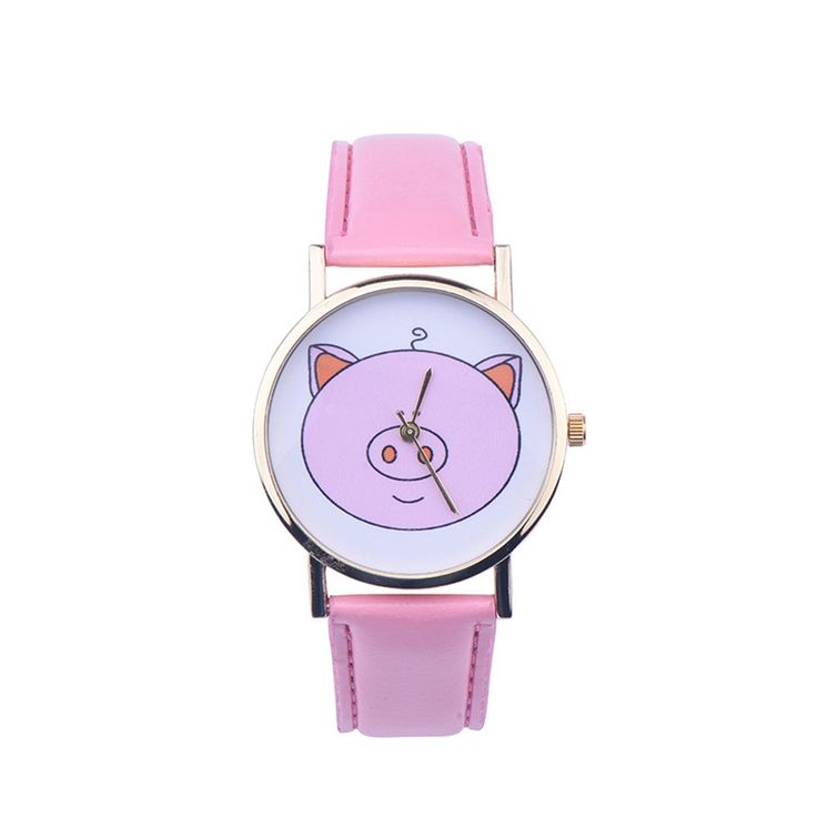Creative Fashion Boy Girl Watch, 2016 Kids Cute Pig Printed Watches Faux Leather Men Analog Watch Student Relogio Free Shipping //Price: $2.95 & FREE Shipping //     #hashtag2