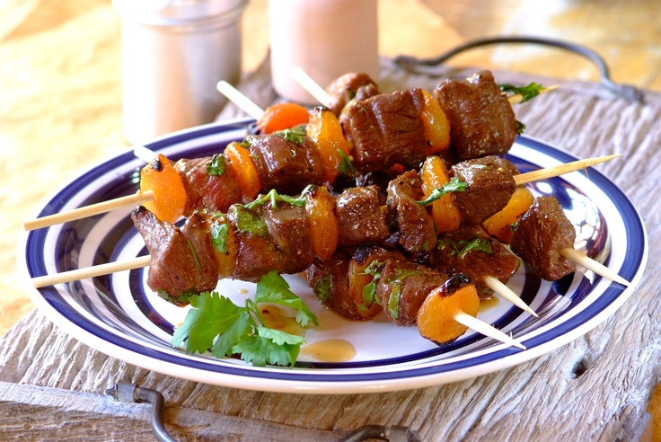 Ostrich Skewers (Southern African)  Ostrich meat is low in fat compared to other red meats   #africanfood