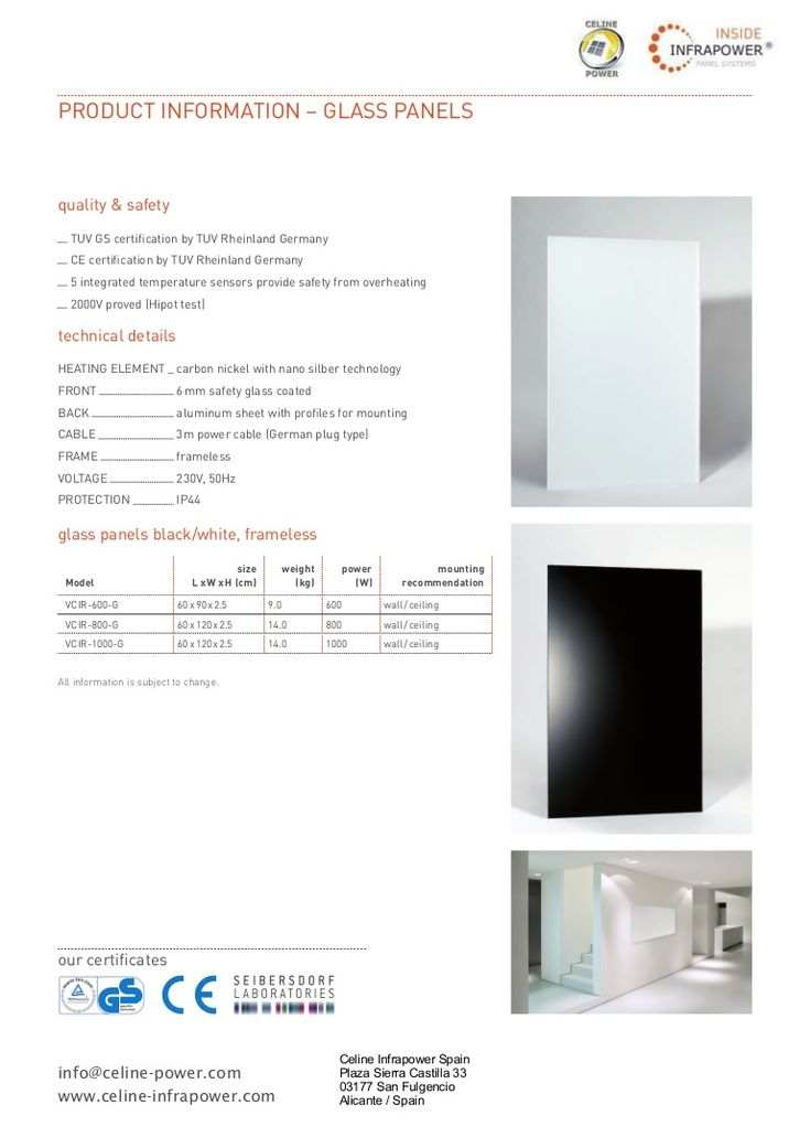 information-infrared-heater-glas-panel-infrared-heater-infrared-heater-by-celine-infrapower-infrared-heating by Marina Infocenter via Slideshare