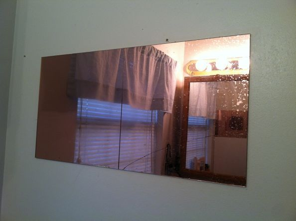 removing an old wall mirror, home maintenance repairs, how to, wall decor, Old mirror removal
