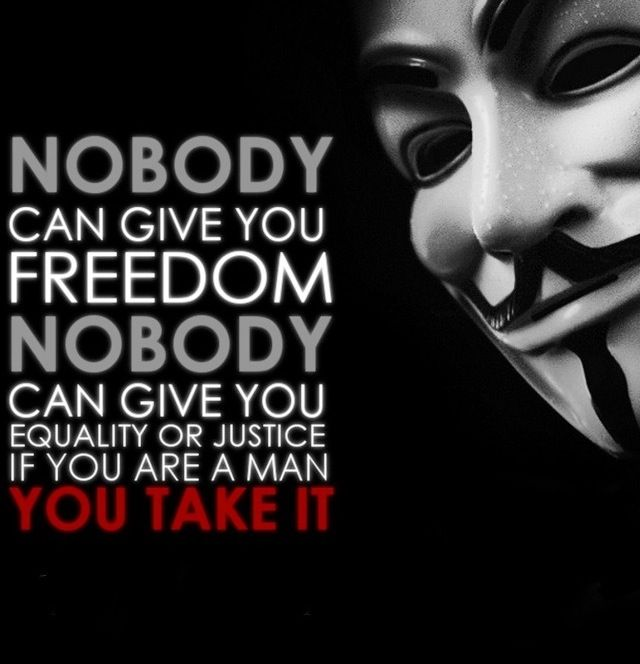 V for Vendetta quote.