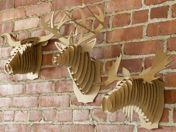 Creative Wall Decor from Cardboard Safari