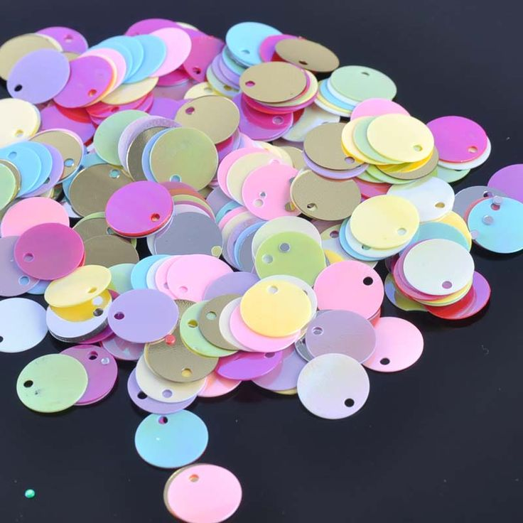 700pcs/23g 11 AB colors Round Sequin For Crafts&Paillette Sewing Scrapbooking lentejuelas 10mm One hole CP1397