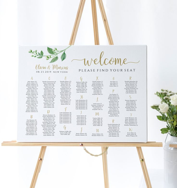 Welcome Wedding Seating Chart Wedding Seating Plan