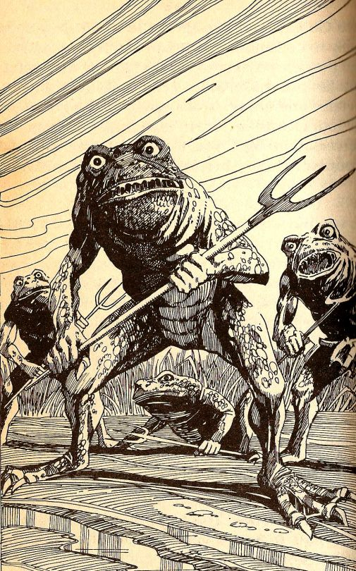 The dread frog people (Fighting Fantasy illustration)