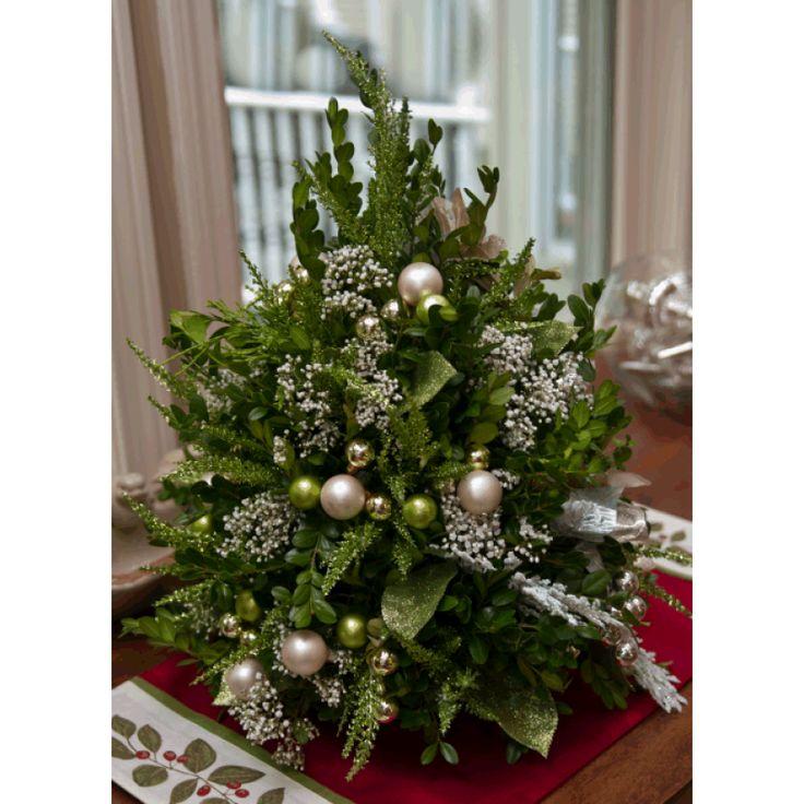 Best christmas flower arrangement images on pinterest