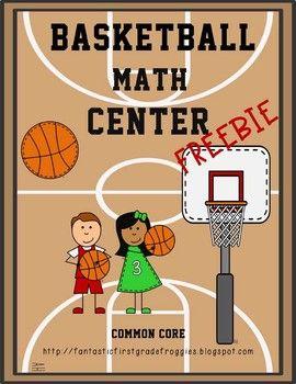 Basketball Math Center Fun-FREEBIE