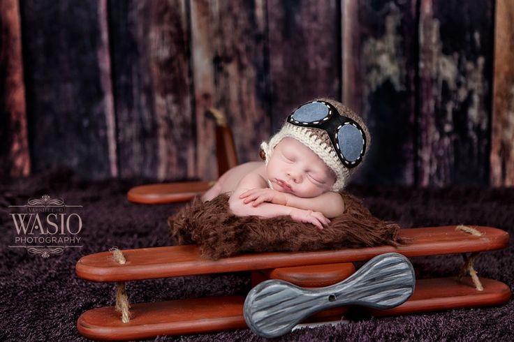 newborn, newborn photo ideas, nursery, nursery ideas, baby boy, flying, airplane, pilot, aviator #newborn #newbornideas #babyboy To see more of our work check out our site at www.wasiophotography.com