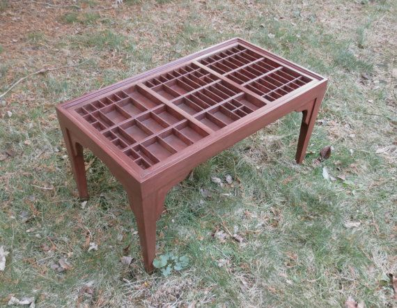 Cherry wood coffee table custom display table cocktail by xenasdad