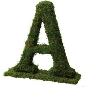 画像: モスアルファベット「A」・自立スタンド型