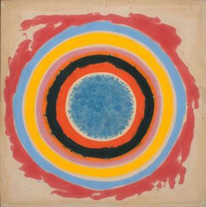 'Inside,' 1958.   by Kenneth Noland  Image Courtesy of the Hirshhorn Museum.  www.pbs.org/