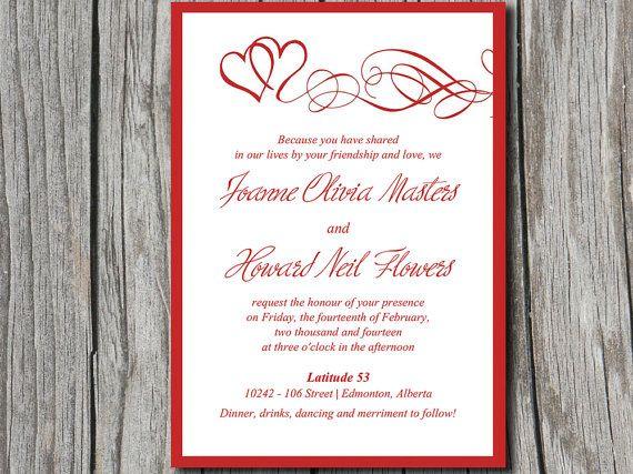 heart wedding invitation template