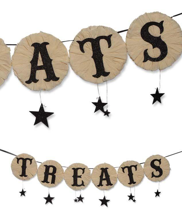 Treats Garland | Dee Foust Studio Dee Halloween