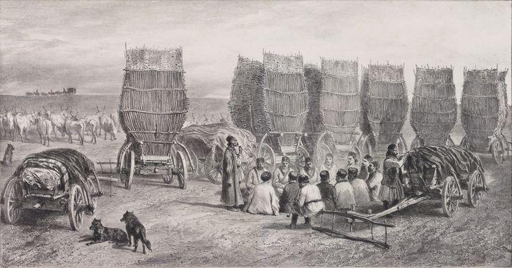 Oprirea unei caravane Moldave care transportă cărbuni (Basarabia) 5 august 1837