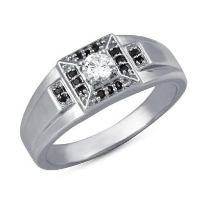 Parvesh Ring: Rs.2,485    #ring #silver #swarovski #mens