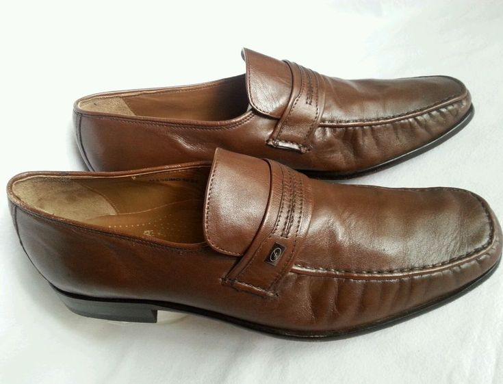 Florsheim Imperial Mens Shoes Leather Loafers Slip On Work Brown Hipster 10 ee in Clothing, Shoes, Accessories, Men's Shoes, Dress/Formal | eBay!