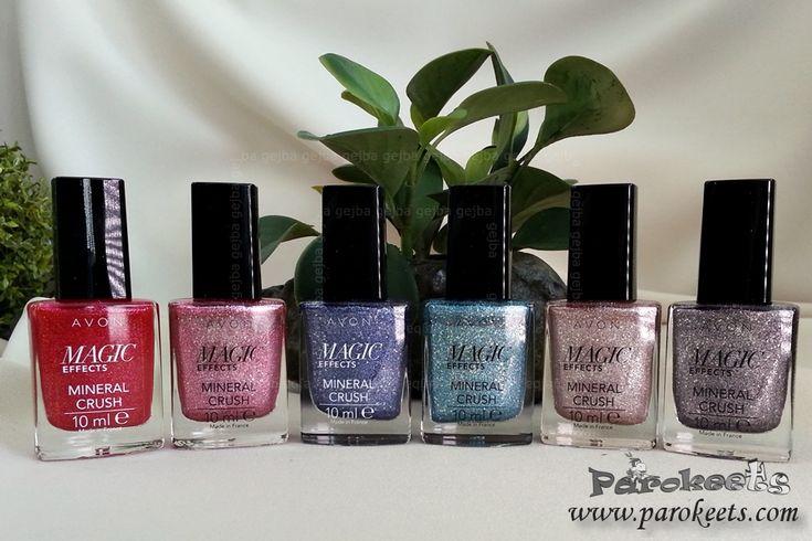 Avon Mineral Crush nail polishes | Parokeets