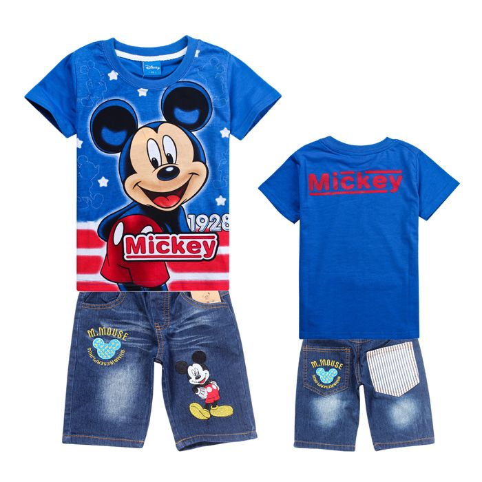 topolino mouse design kids summer clothing set mickey