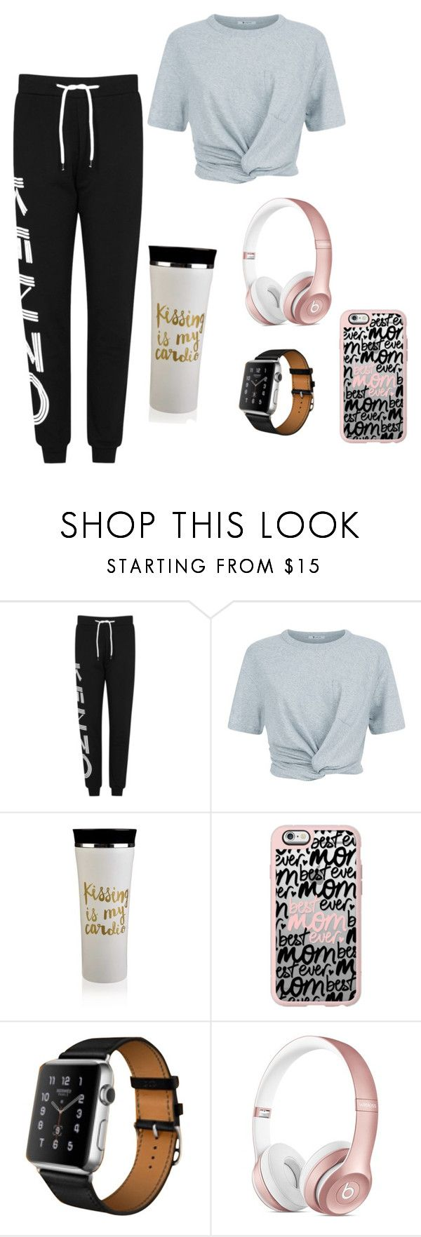 """""""Untitled #14"""" by devy-sapta on Polyvore featuring Kenzo, T By Alexander Wang, Casetify and Hermès"""