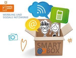 """Die neue Materialreihe """"Werbung und soziale Netzwerke"""" von Media Smart e. V. gibt Einblicke in die didaktische und medienpädagogische Kompetenzvermittlung an fortführenden Schulen."""