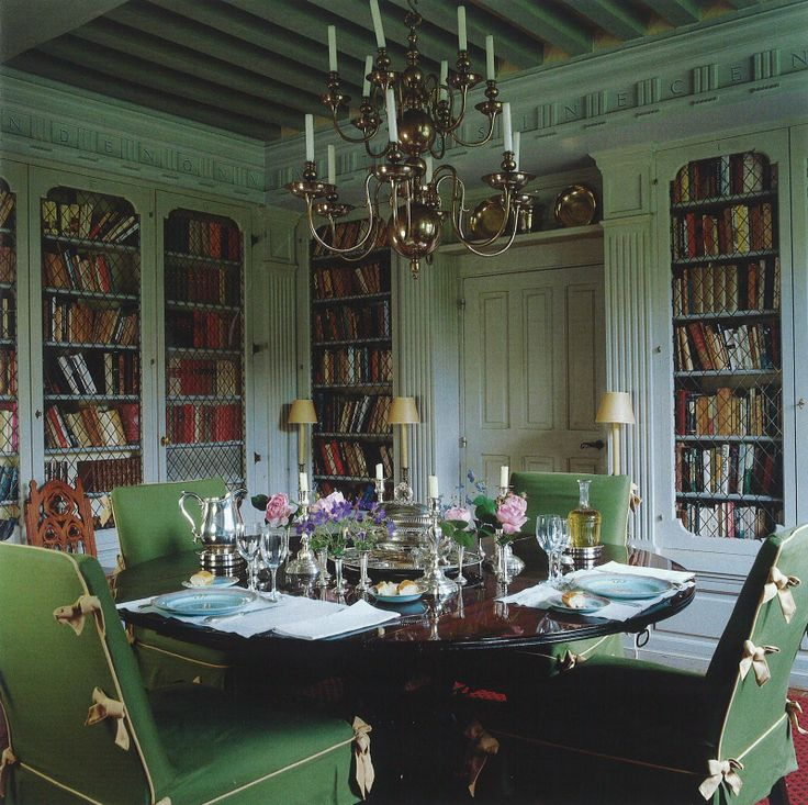 374 best images about dining rooms on pinterest elegant for Dining room library