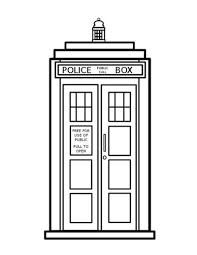 9 Best Coloring Pages Images Books Doctor Who Dalek TARDIS Outline