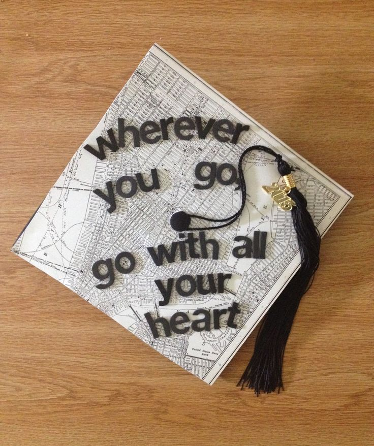 Graduation Cap. New York map & my favorite quote