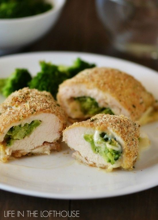 Broccoli and Cheese Stuffed Chicken! These are juicy, flavorful and great for a quick weeknight meal.
