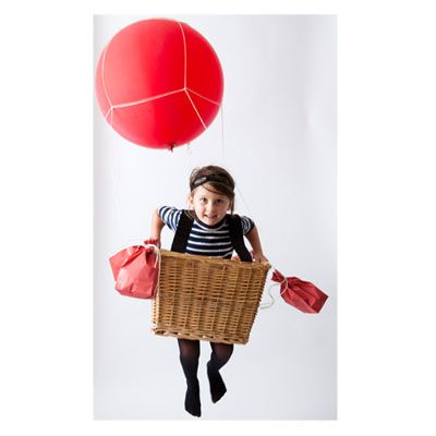 love those homemade halloween costumes my kids would never wear.  This one is too cute.  Hot air balloon.