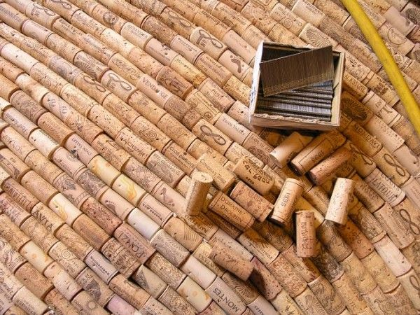 Make a wine cork floor (use a nail gun to sink the nails into the sub-floor and find an appropriate sealant).