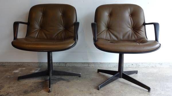 Craigslist - mid century LEATHER steelcase chairs vintage ...