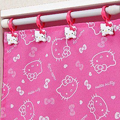 Hello Kitty Curtain Clip Shower Holder Rod Drapery Hook Rings Bathing Bathroom