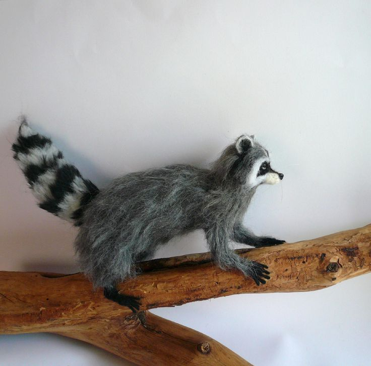 Needlefelted Raccoon https://www.etsy.com/listing/229312275/needlefelted-animalneedlefelted-raccoon?ref=shop_home_active_1