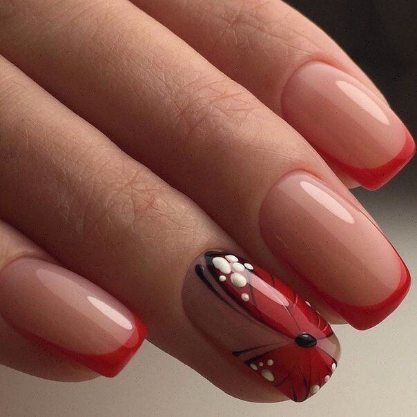 Beautiful summer nails, Butterfly nail art, Color french manicure, Fashion…