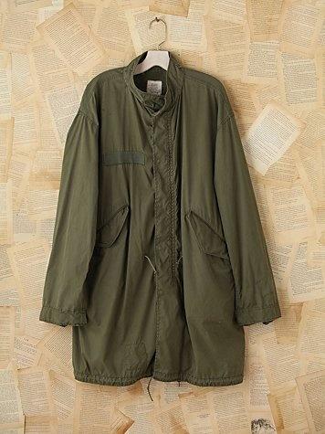 Vintage oversized military cargo jacket