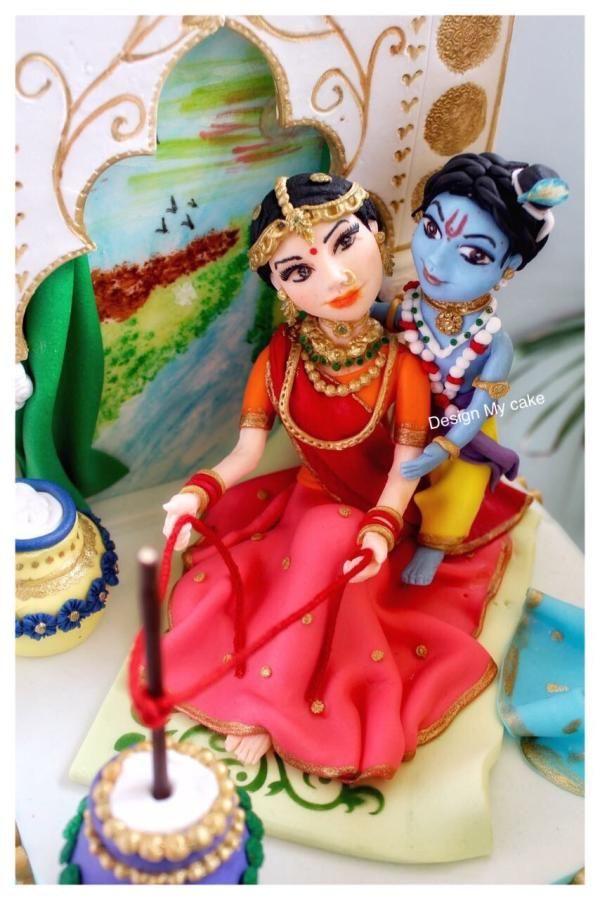 Krishna n Yashodha Maa - cake by Archu