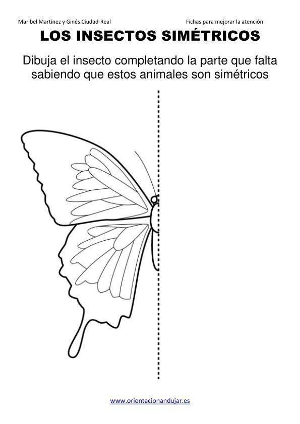 Los Insectos Simetricos Trabajamos Lateralidad Izq Dcha Orientacion Andujar05 3 Insectos Actiludis Recursos Educativos