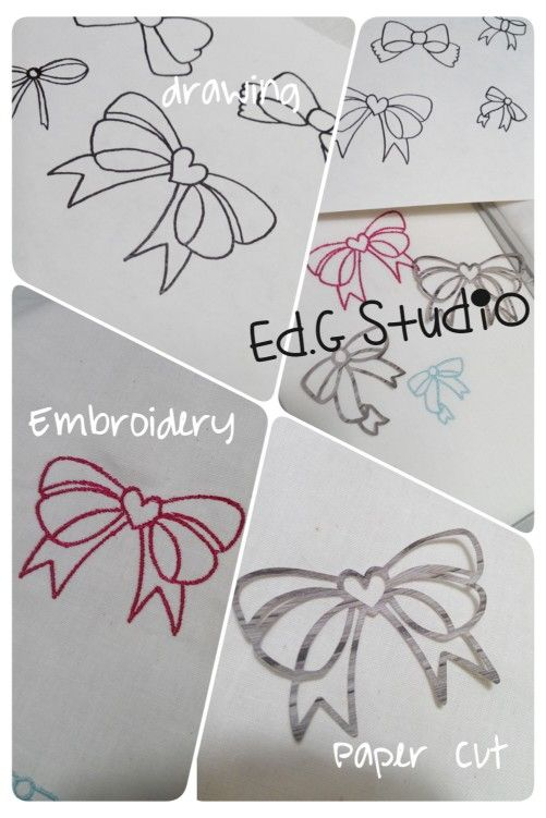 From doodling to embroidery and paper cut....