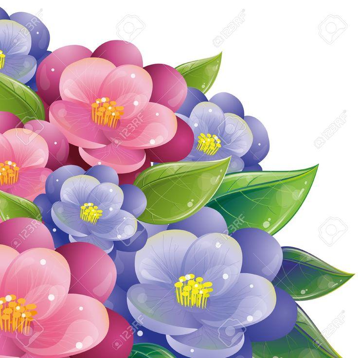 Diseño Floral Con Violeta, Vector De Ilustración, Eps-10 Ilustraciones Vectoriales, Clip Art Vectorizado Libre De Derechos. Pic 9363838.